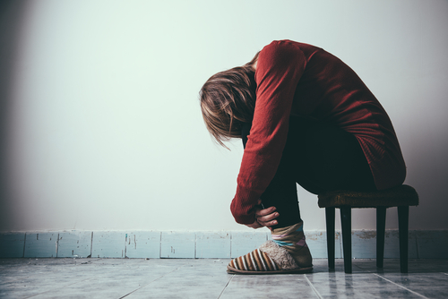 A patient experiencing post traumatic stress disorder and undergoing addiction therapy.
